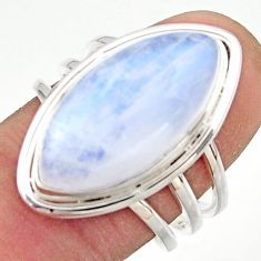 13.20cts natural rainbow moonstone 925 sterling silver ring size 8 r42712
