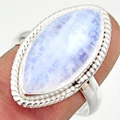 13.18cts natural rainbow moonstone 925 sterling silver ring size 8 r42714