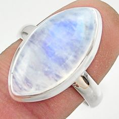13.96cts natural rainbow moonstone 925 sterling silver ring size 8 r42740