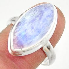 14.07cts natural rainbow moonstone 925 sterling silver ring size 9 r42701