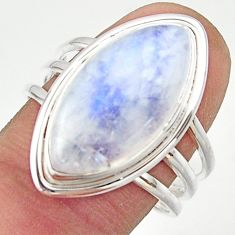12.75cts natural rainbow moonstone 925 sterling silver ring size 9 r42704