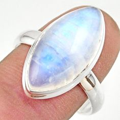 13.40cts natural rainbow moonstone 925 sterling silver ring size 9 r42706