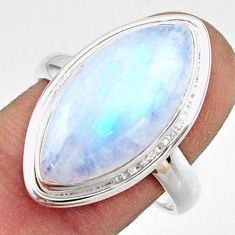 13.68cts natural rainbow moonstone 925 sterling silver ring size 9 r42717