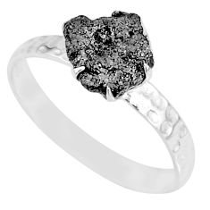 1.42cts natural raw diamond rough 925 silver solitaire ring size 8.5 r79360