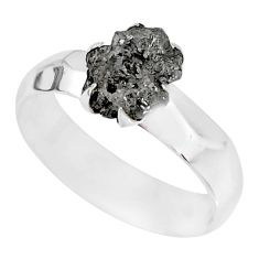 1.82cts natural raw diamond rough 925 silver solitaire ring size 8 r79342