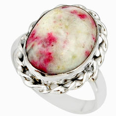 9.32cts natural red cinnabar spanish 925 sterling silver ring size 8 r42043