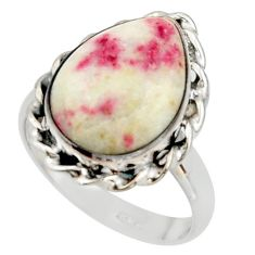 9.61cts natural red cinnabar spanish 925 sterling silver ring size 9 r42046