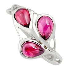 2.70cts natural red garnet 925 sterling silver ring jewelry size 7.5 r25310