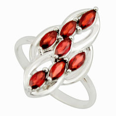 2.61cts natural red garnet 925 sterling silver ring jewelry size 7.5 r25752
