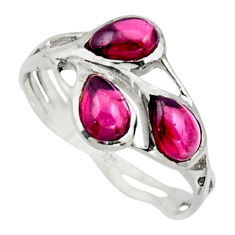 3.23cts natural red garnet 925 sterling silver ring jewelry size 7.5 r25868