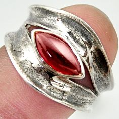 2.46cts natural red garnet 925 sterling silver ring jewelry size 6.5 r36983