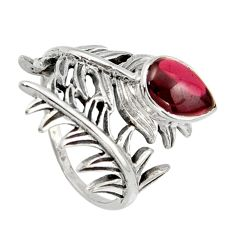 2.92cts natural red garnet 925 sterling silver ring jewelry size 7.5 r42700