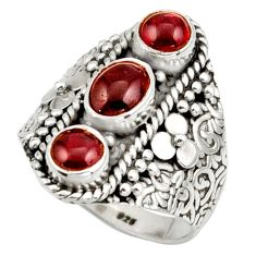 3.46cts natural red garnet 925 sterling silver ring jewelry size 8.5 r42721