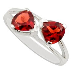 3.23cts natural red garnet 925 sterling silver ring jewelry size 7 r25639