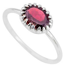 2.05cts natural red garnet 925 sterling silver ring jewelry size 7 t8136