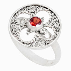 0.45cts natural red garnet 925 sterling silver ring jewelry size 8 a94595 c24861