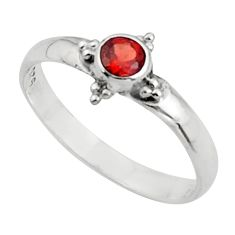 0.62cts natural red garnet 925 sterling silver ring jewelry size 8 r44721