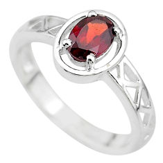 1.47cts natural red garnet 925 sterling silver ring jewelry size 8 t8011