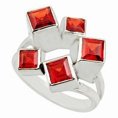 4.72cts natural red garnet 925 sterling silver ring jewelry size 9 r25691