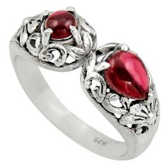 2.34cts natural red garnet 925 sterling silver ring jewelry size 9 r40886