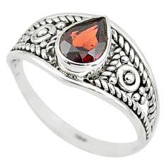 1.58cts natural cut garnet 925 silver graduation handmade ring size 9.5 t9501