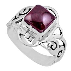 2.72cts natural red garnet 925 sterling silver solitaire ring size 6 r54426