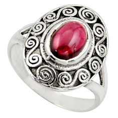 2.20cts natural red garnet 925 sterling silver solitaire ring size 7 r40926