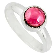 2.44cts natural red garnet 925 sterling silver solitaire ring size 8 r26391