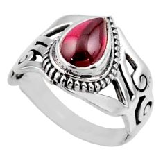 2.33cts natural red garnet 925 sterling silver solitaire ring size 8 r54645