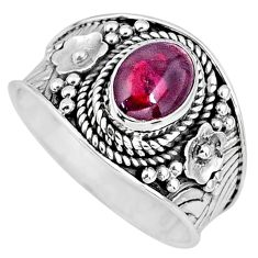 2.12cts natural red garnet 925 sterling silver solitaire ring size 8 r57945
