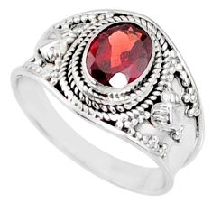 2.17cts natural red garnet 925 sterling silver solitaire ring size 8 r68961
