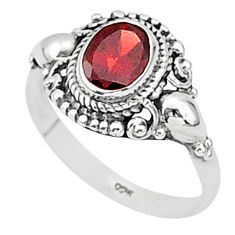 1.88cts natural red garnet 925 sterling silver solitaire ring size 8 t1373