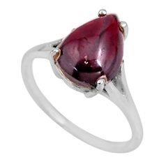 5.84cts natural red garnet 925 sterling silver solitaire ring size 9 r53963