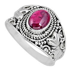 2.32cts natural red garnet 925 sterling silver solitaire ring size 9 r58390