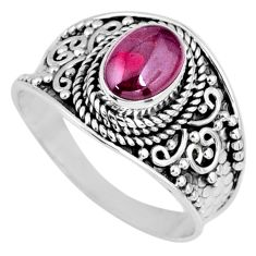 2.17cts natural red garnet 925 sterling silver solitaire ring size 9 r58633
