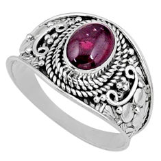 2.05cts natural red garnet 925 sterling silver solitaire ring size 9 r58651