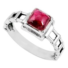 1.39cts natural red garnet 925 sterling silver solitaire ring size 9 r68922