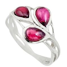 2.98cts natural red garnet pear 25 sterling silver ring jewelry size 6.5 r25309