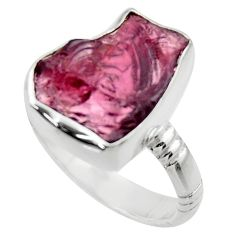 8.05cts natural red garnet rough 925 silver solitaire ring jewelry size 7 r29667