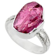 8.42cts natural red garnet rough 925 silver solitaire ring jewelry size 7 r29673
