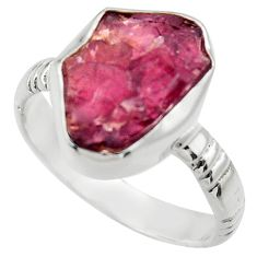 8.42cts natural red garnet rough 925 silver solitaire ring jewelry size 9 r29674