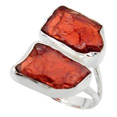 12.06cts natural red garnet rough 925 sterling silver ring jewelry size 6 r49058