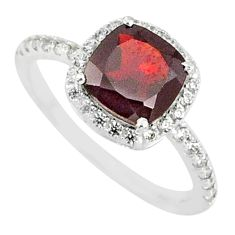 4.89cts natural red garnet topaz 925 silver solitaire ring jewelry size 8 r84059