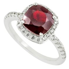 4.51cts natural red garnet zircon 925 sterling silver ring jewelry size 8 r71226