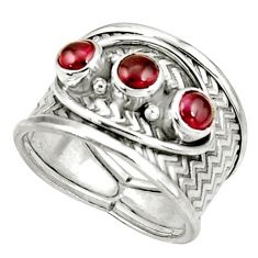 1.77cts natural red ruby 925 sterling silver ring jewelry size 7 r38025