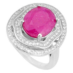 6.10cts natural red ruby topaz 925 silver solitaire ring jewelry size 6 c17667