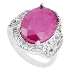 7.58cts natural red ruby topaz 925 silver solitaire ring jewelry size 7 c17680