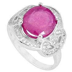 6.58cts natural red ruby topaz 925 silver solitaire ring jewelry size 8 c17661