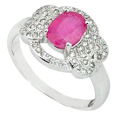 4.22cts natural red ruby topaz 925 sterling silver ring jewelry size 7.5 c17798