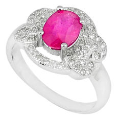 3.87cts natural red ruby topaz 925 sterling silver ring jewelry size 6.5 c17793